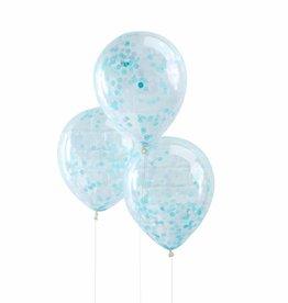 Ginger Ray Confetti ballonnen blauw | 5 st