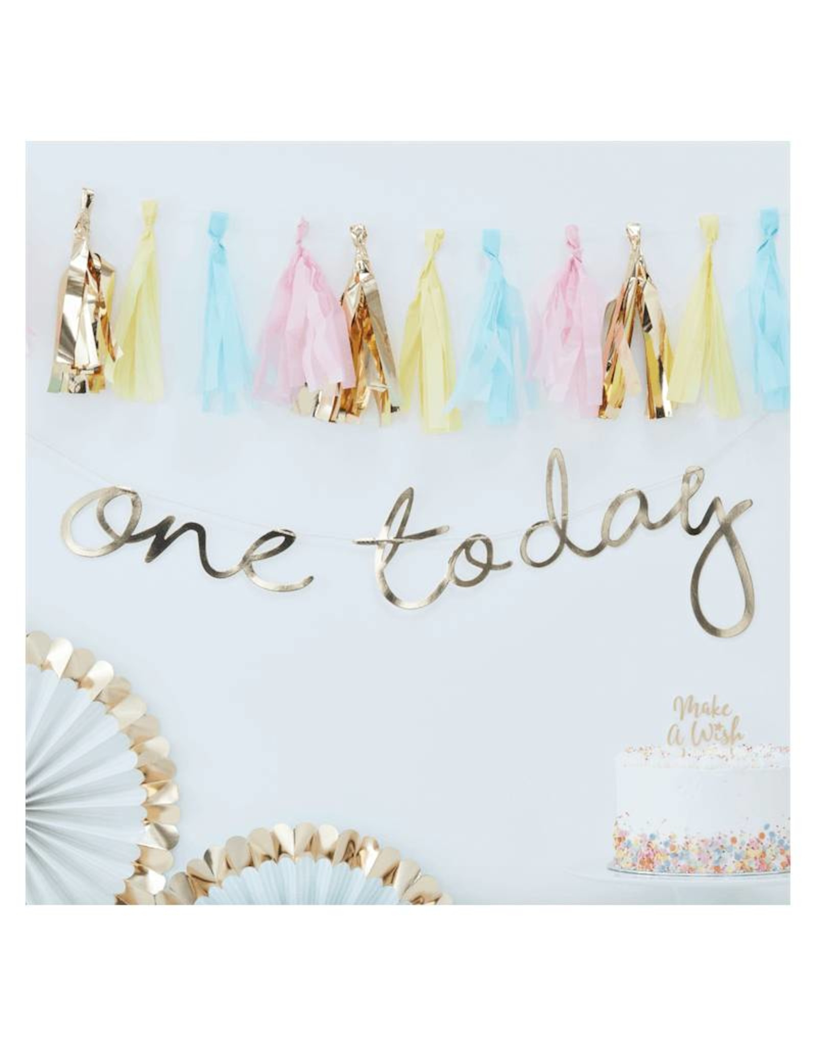 Ginger Ray Slinger goud 'One today' | 1,5 meter
