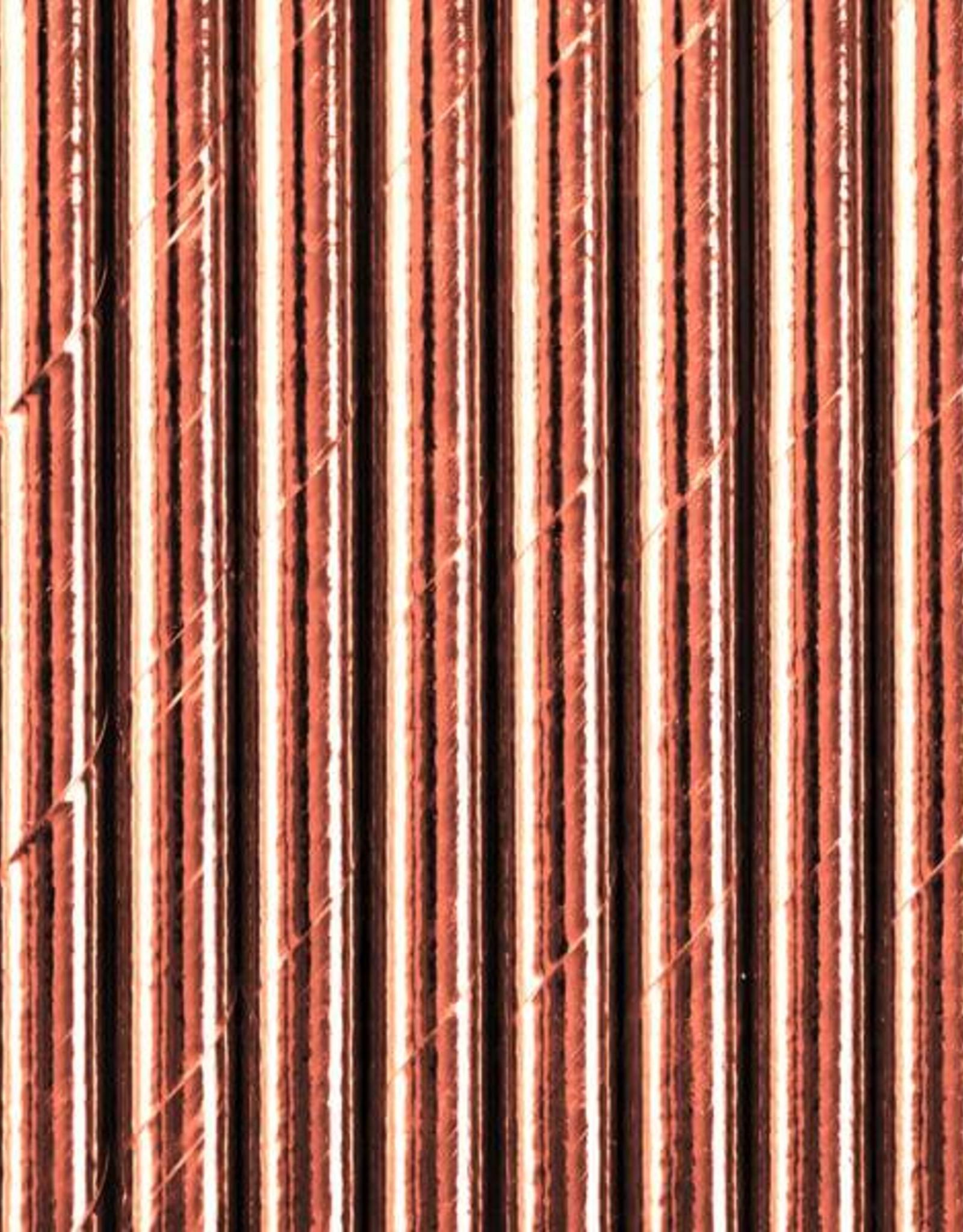 PartyDeco Rietjes rosé goud | 10 stuks