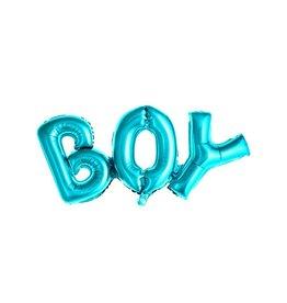 PartyDeco Folieballon 'Boy' blauw