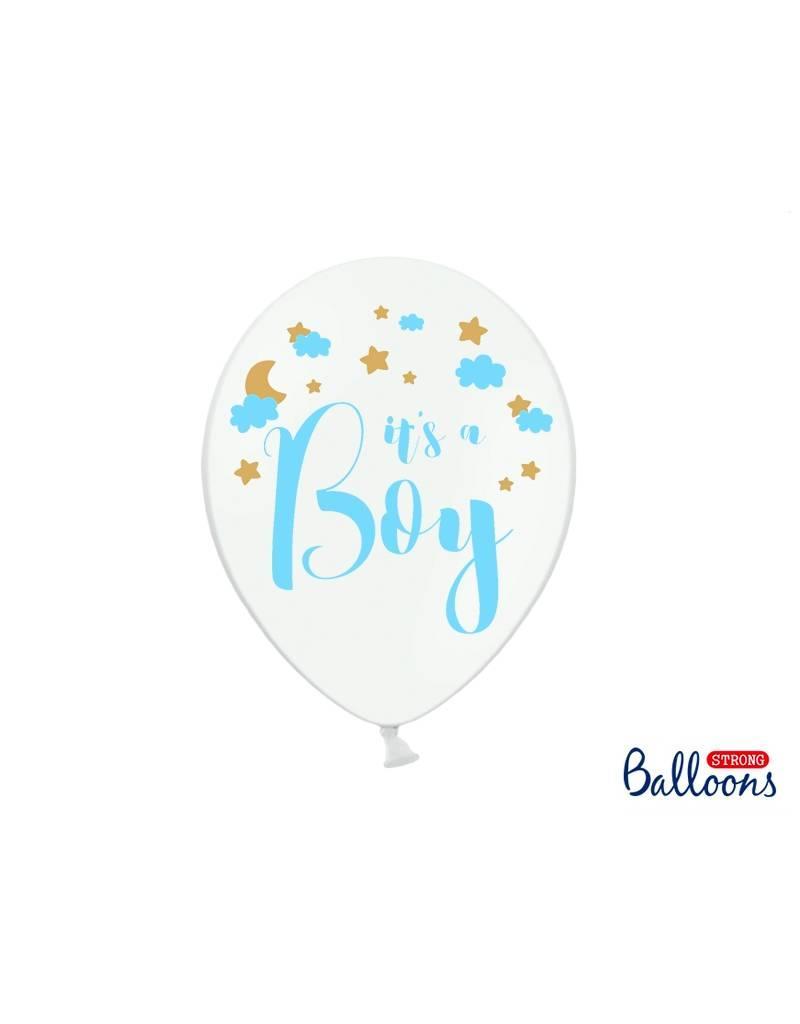 Strong Balloons Ballonnen 'It's a boy' | 6 stuks