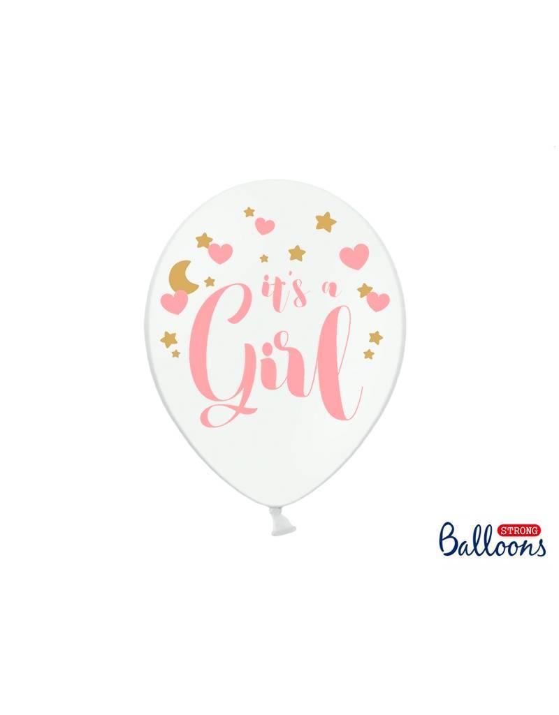 Strong Balloons Ballonnen 'It's a girl' | 6 stuks