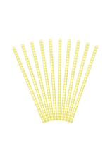 PartyDeco Papieren rietjes geel diamant | 10 stuks
