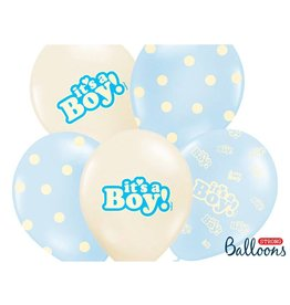 Strong Balloons Ballonnen mix blauw & wit 'It's a boy!' | 6st