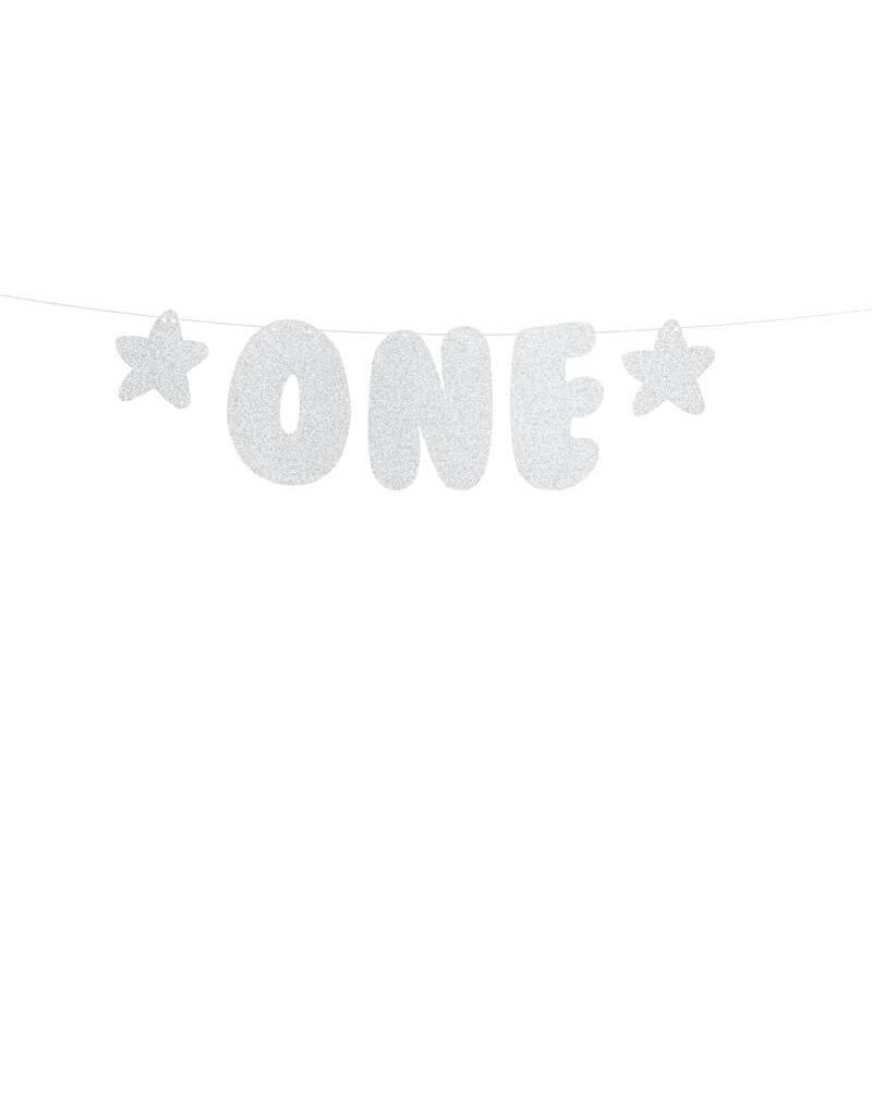 PartyDeco Slinger zilver 'One' | 50 cm