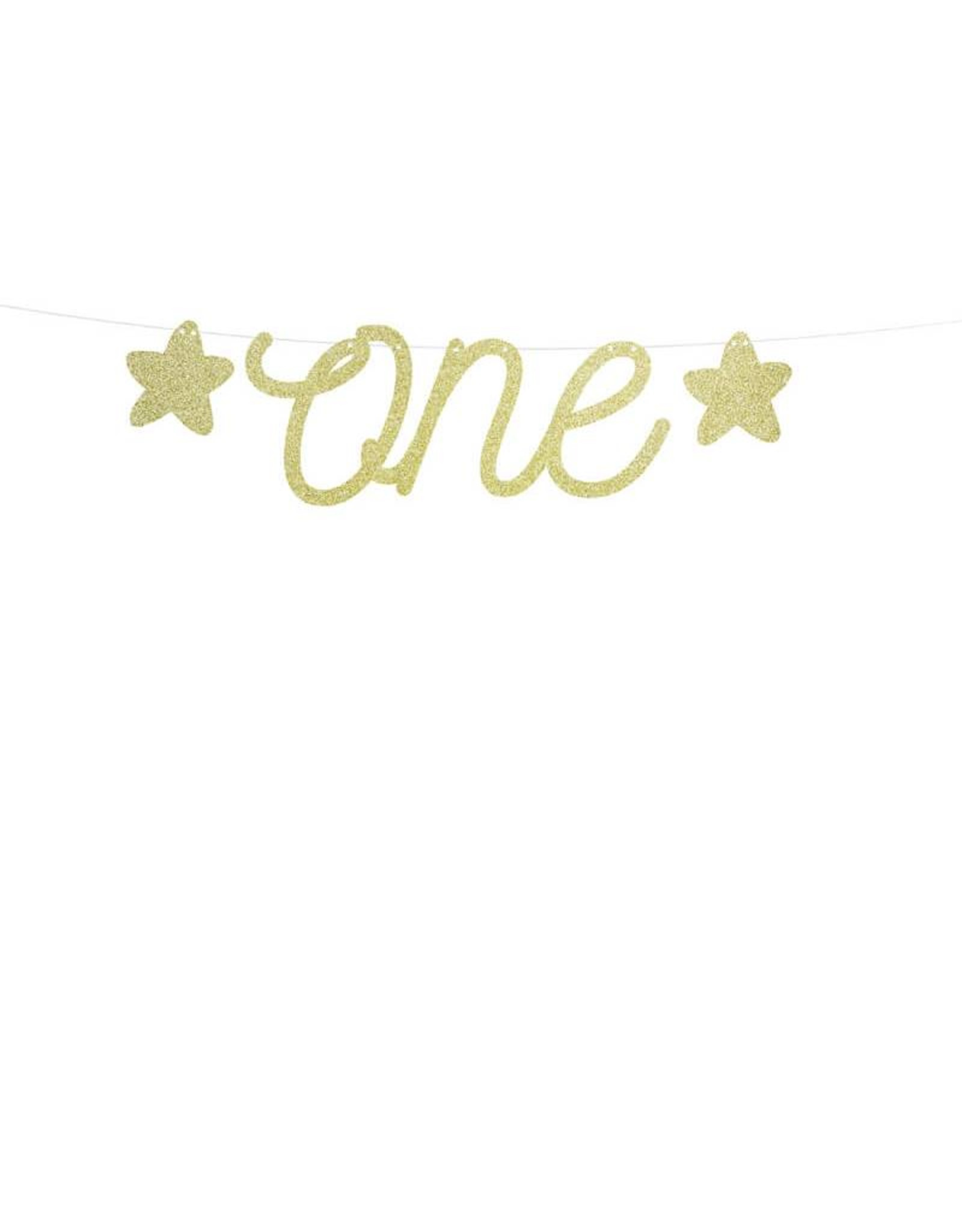 PartyDeco Slinger goud 'One' | 50 cm