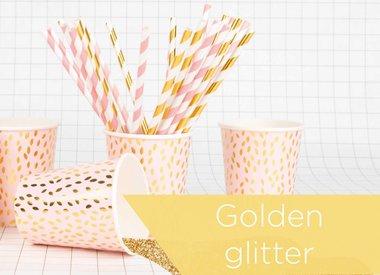 Roze & gouden glitter