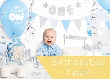 1e verjaardag jongen