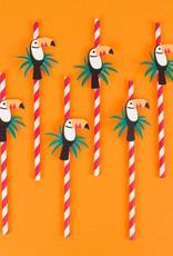 My Little Day Papieren rietjes toucan | 12 stuks
