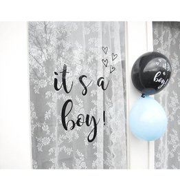 SuzyB Raamsticker 'It's a boy'