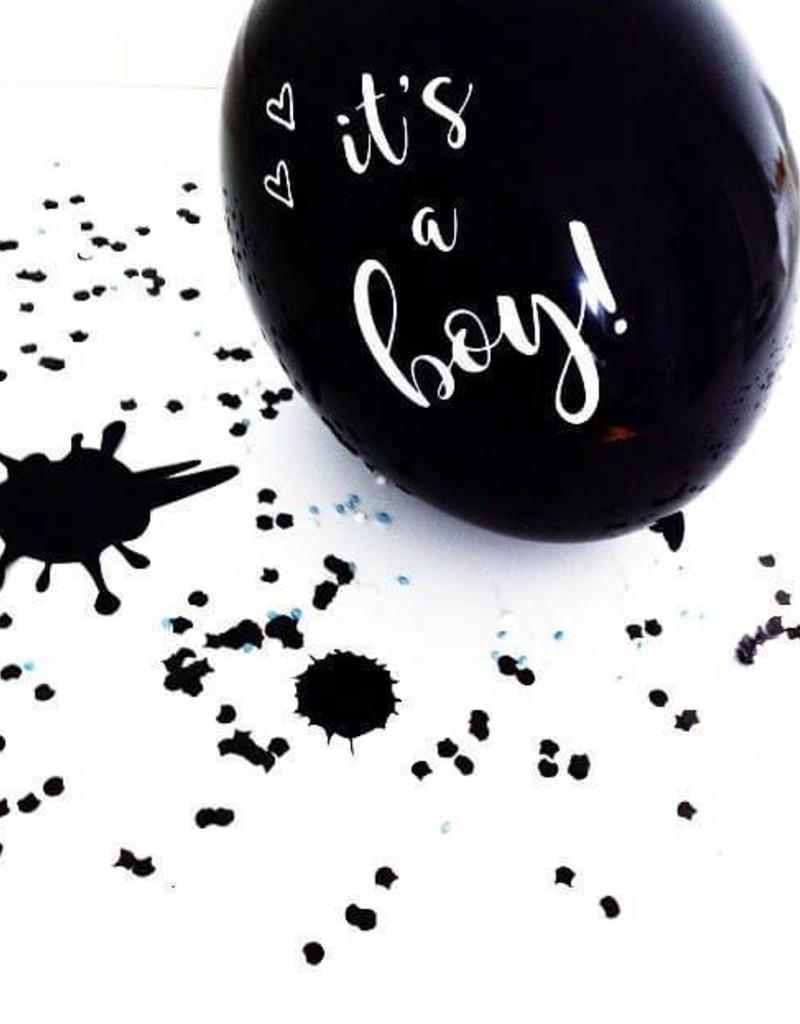 SuzyB Ballonnen zwart & wit 'It's a boy' | 6 stuks