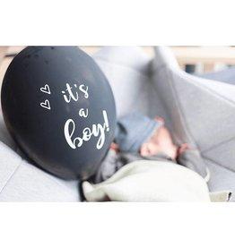 SuzyB Ballonnen zwart & wit 'It's a boy' | 6st