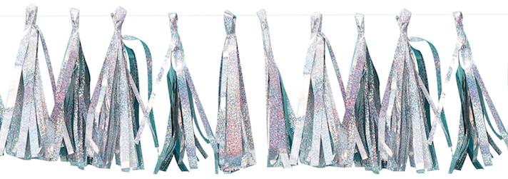 Holografische tassel slinger