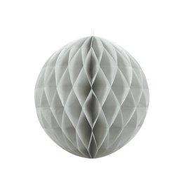 PartyDeco Honeycomb grijs (40 cm)