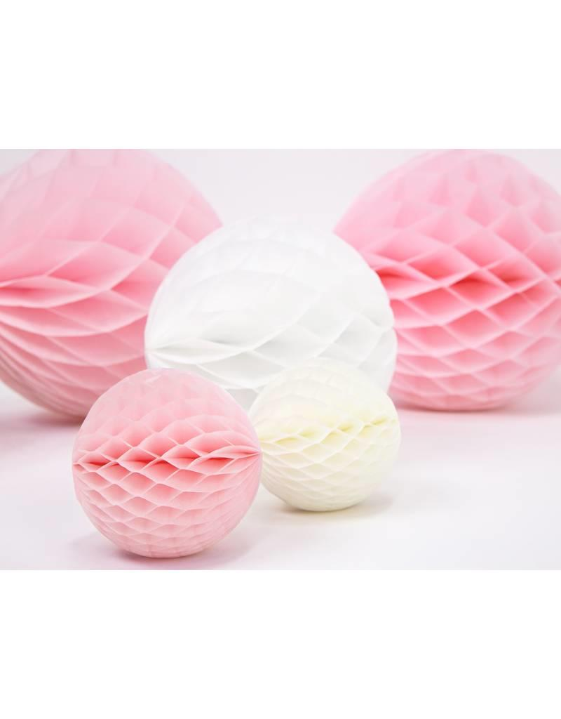 PartyDeco Honeycomb lichtroze (20 cm)