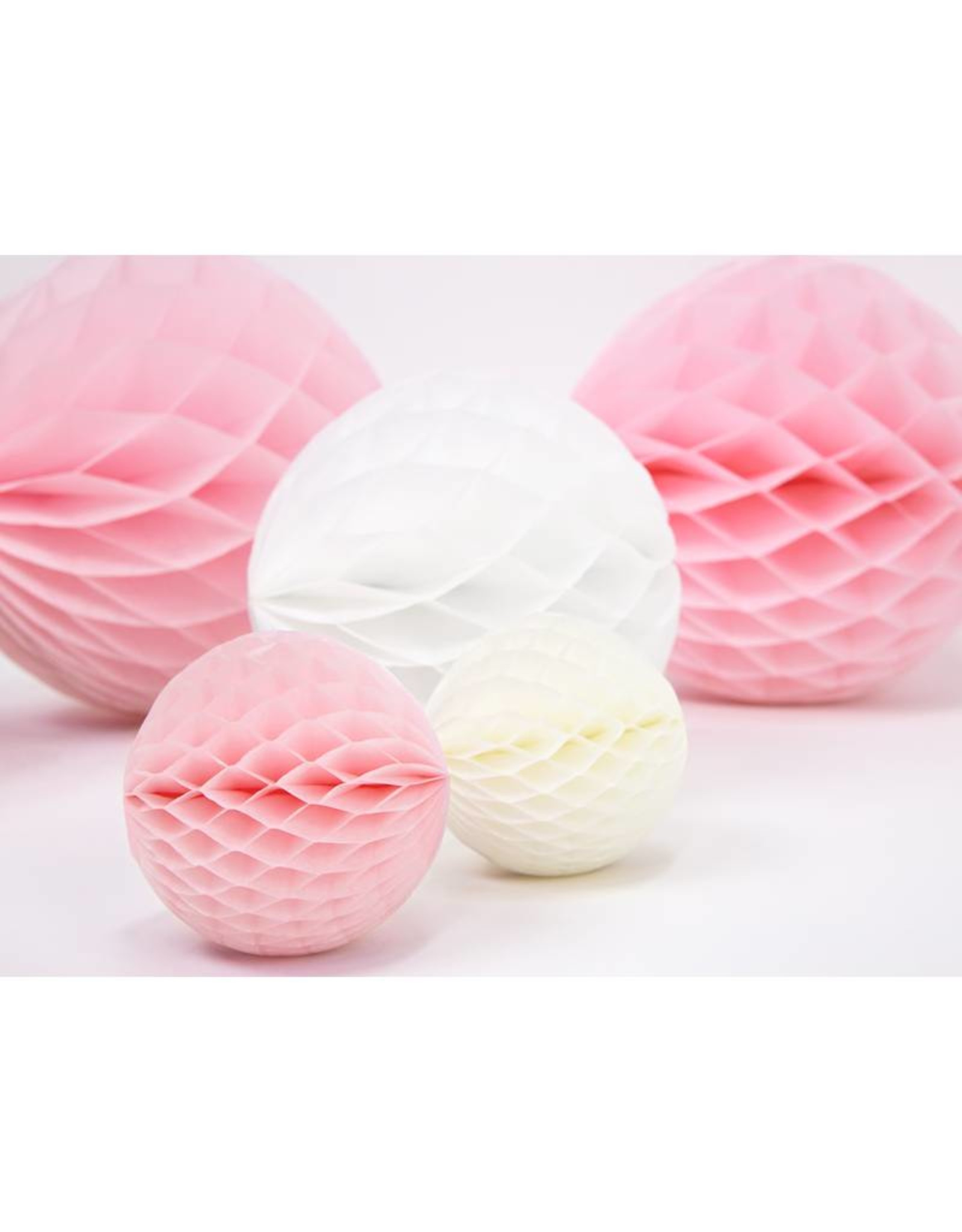 PartyDeco Honeycomb lichtroze (30 cm)
