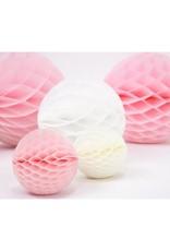 PartyDeco Honeycomb lichtroze (40 cm)