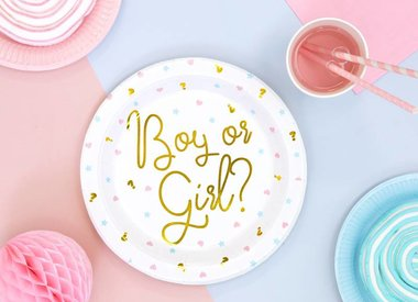 Gender reveal versiering