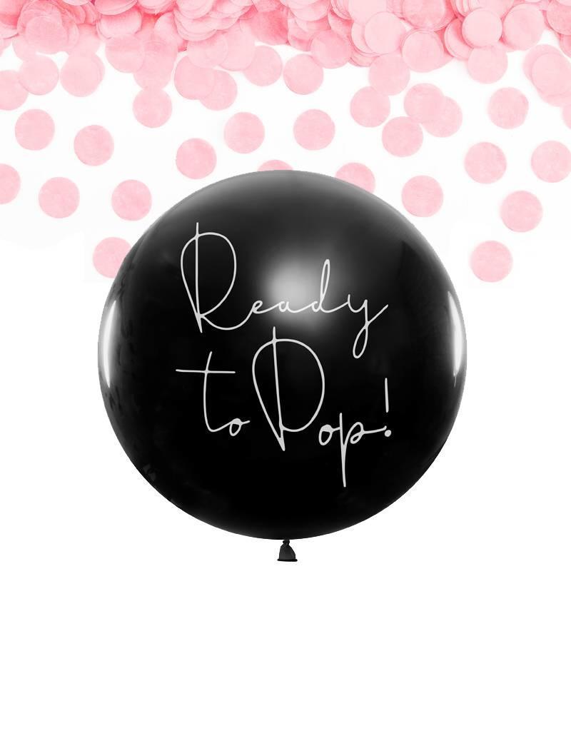 PartyDeco Gender reveal ballon meisje (80 cm)