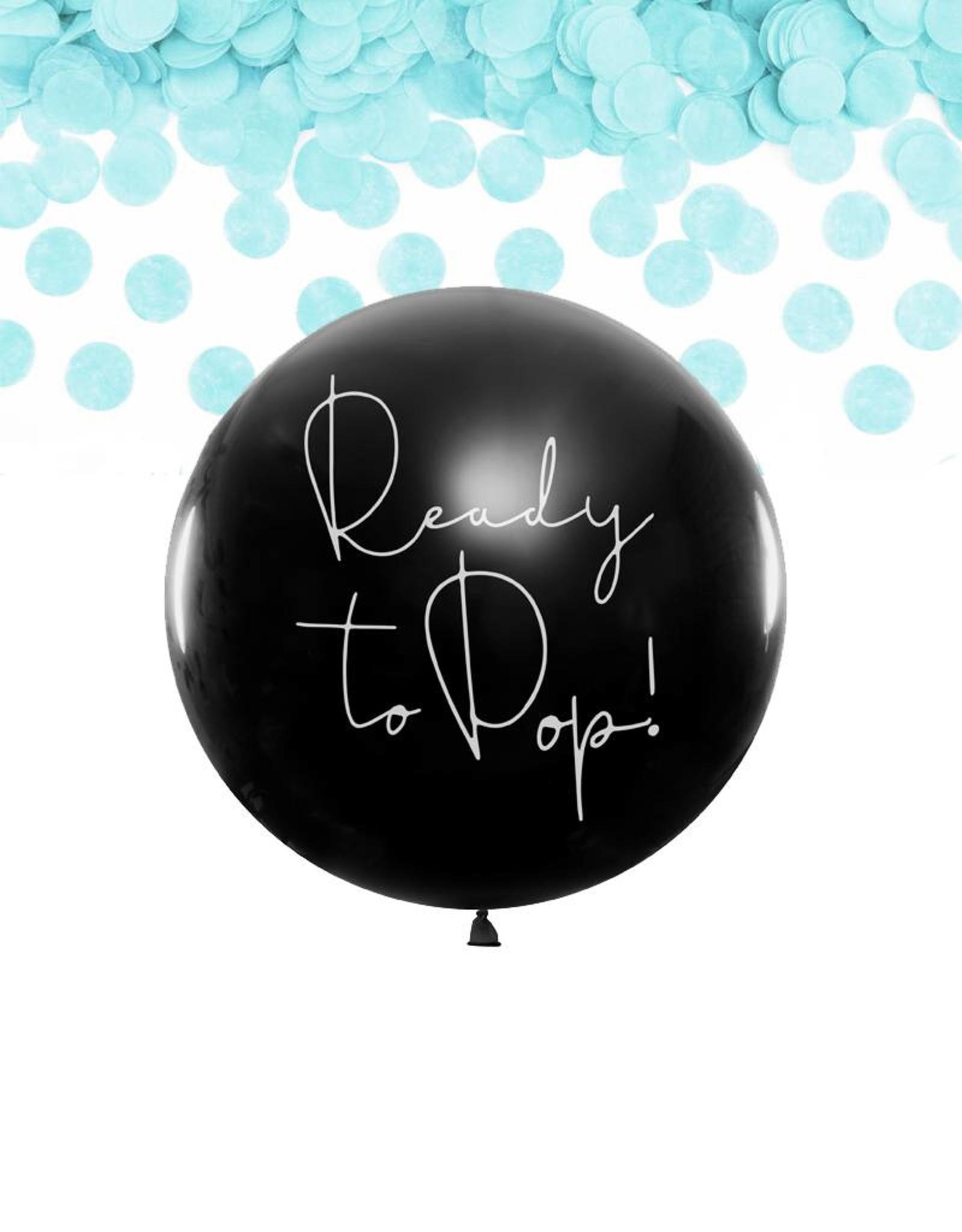 PartyDeco Gender reveal ballon jongen (80 cm)