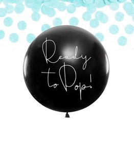 PartyDeco Gender reveal ballon jongen (80 cm)
