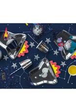 PartyDeco Papieren bordjes raket | 6 stuks
