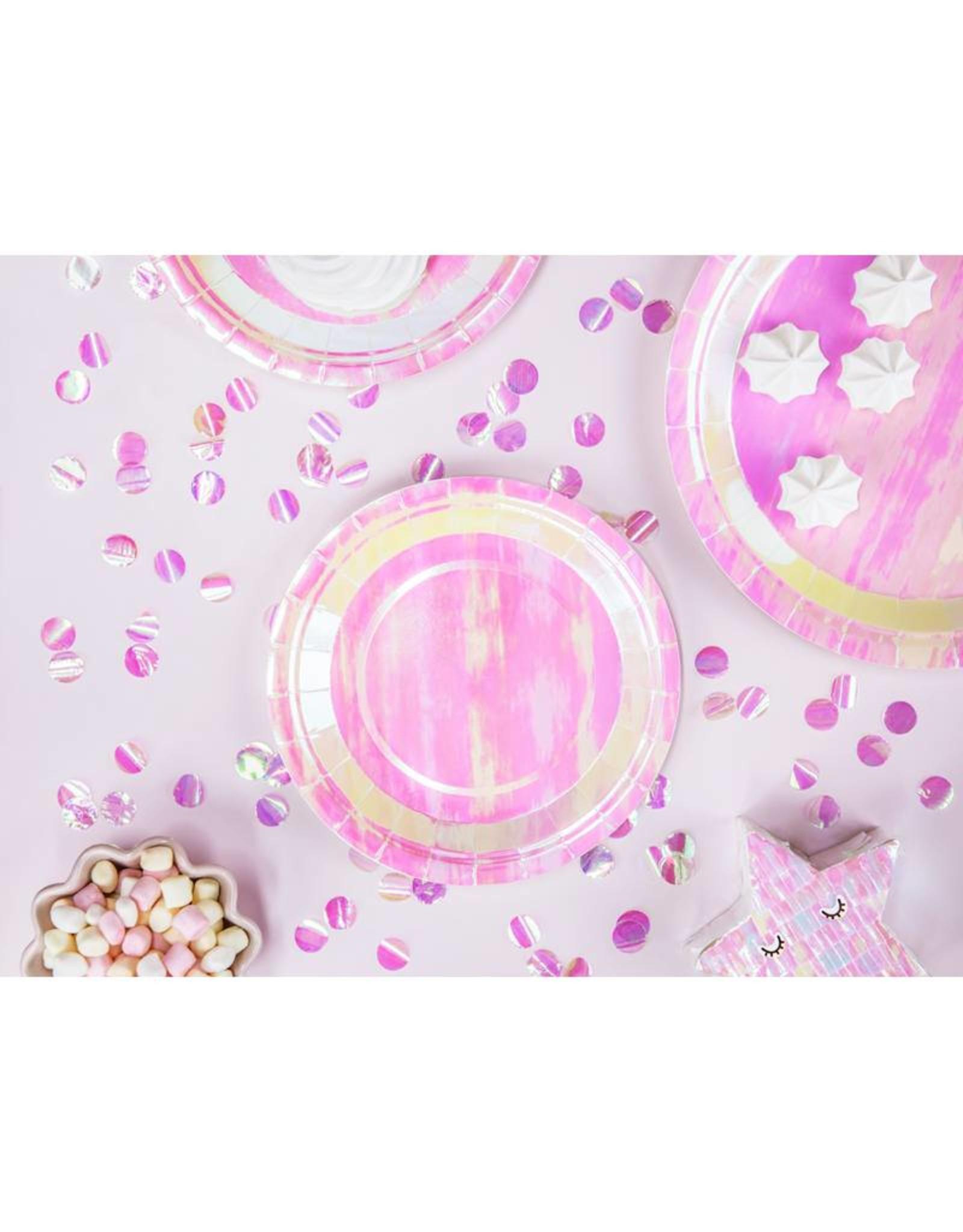 PartyDeco Papieren bordjes iriserend | 6 stuks