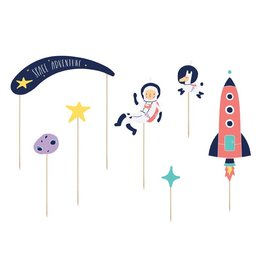 PartyDeco Cupcake prikkers space party | 7st