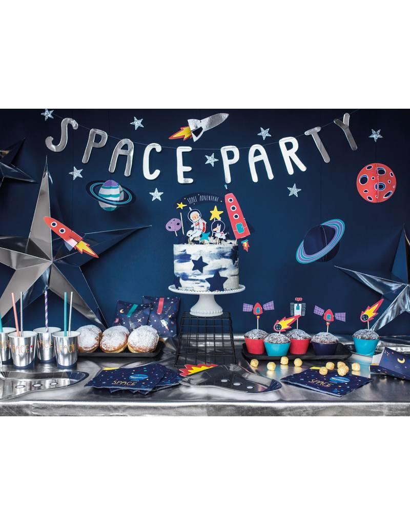 PartyDeco Prikkers space party | 7 stuks