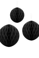 PartyDeco Honeycomb zwart (30 cm)