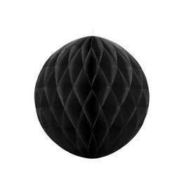 PartyDeco Honeycomb zwart (40 cm)