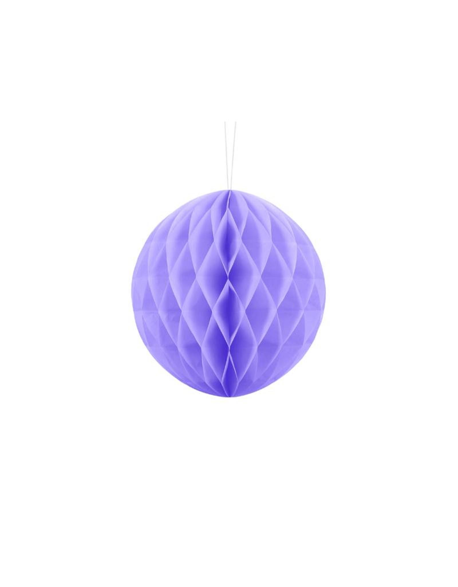 PartyDeco Honeycomb lavendel paars (20 cm)
