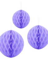 PartyDeco Honeycomb lavendel paars (30 cm)