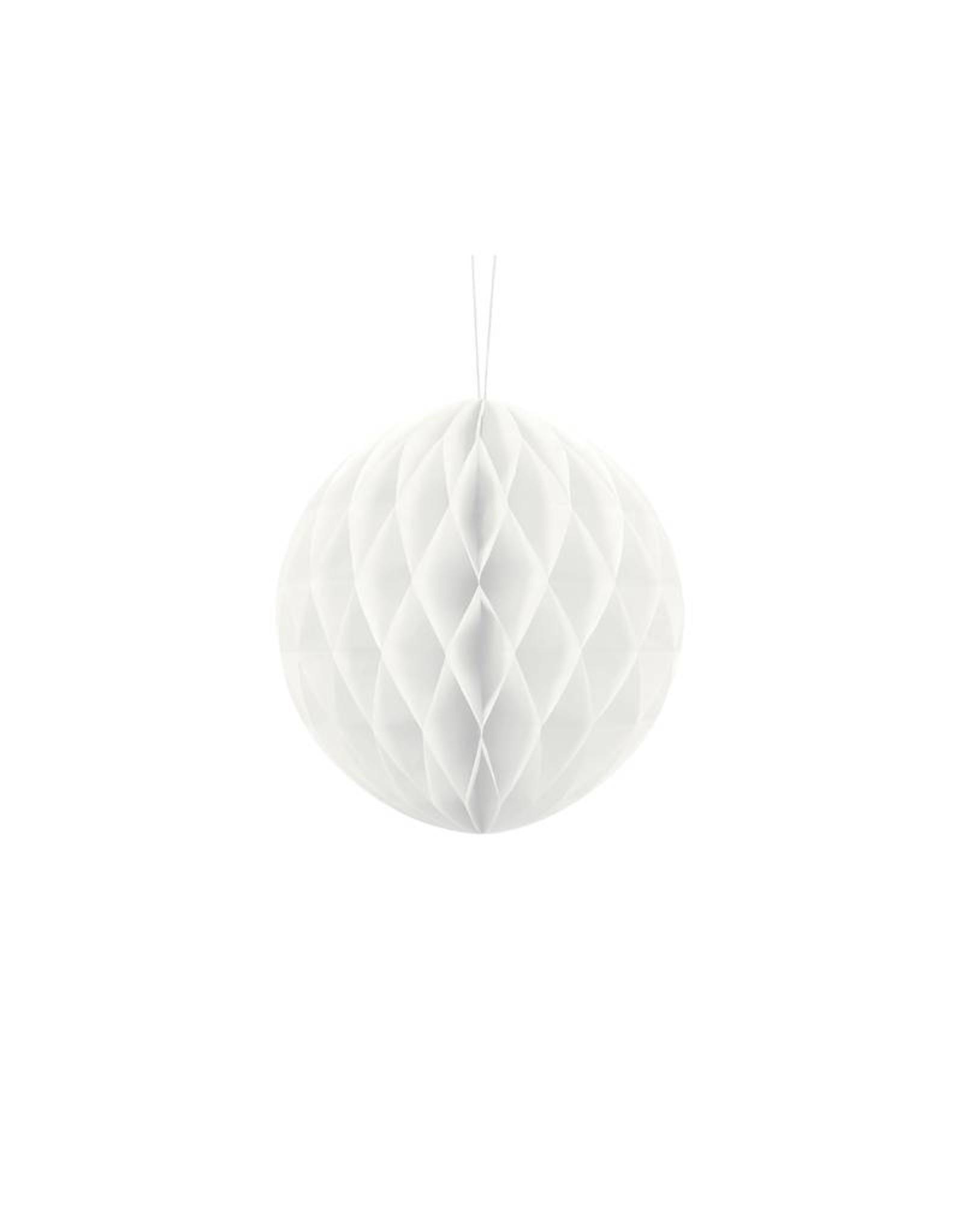 PartyDeco Honeycomb wit (20 cm)