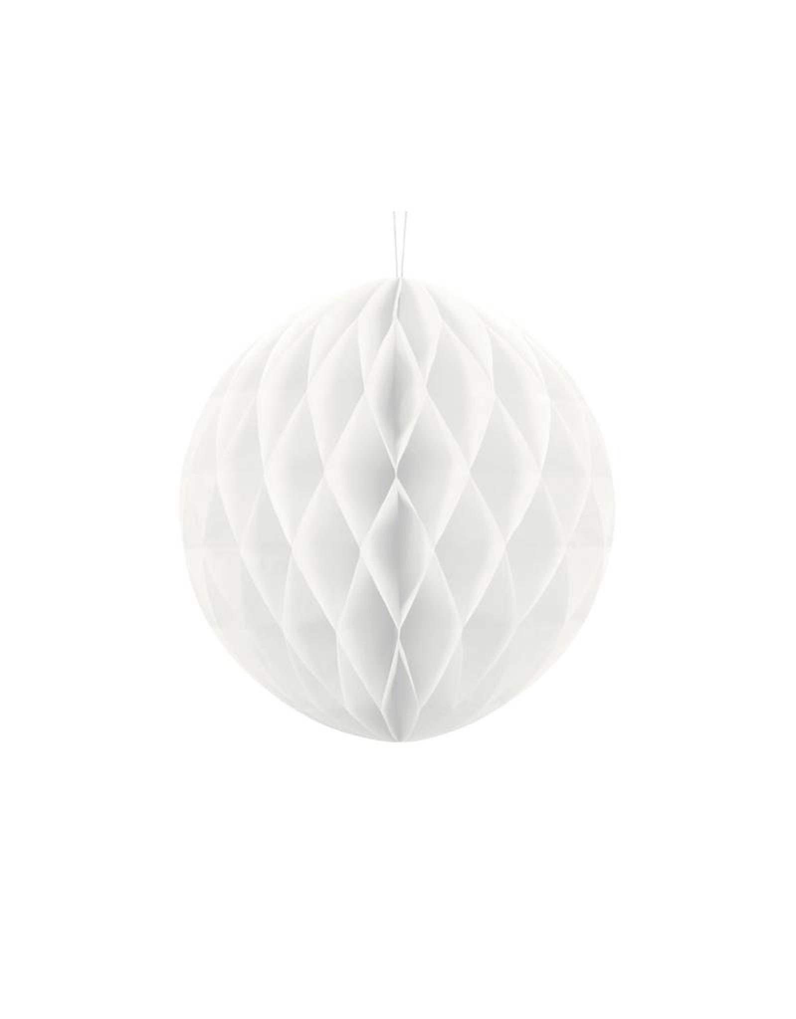 PartyDeco Honeycomb wit (30 cm)