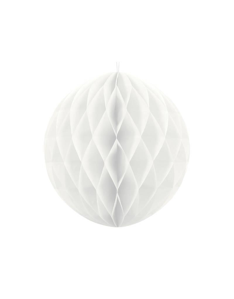 PartyDeco Honeycomb wit (40 cm)