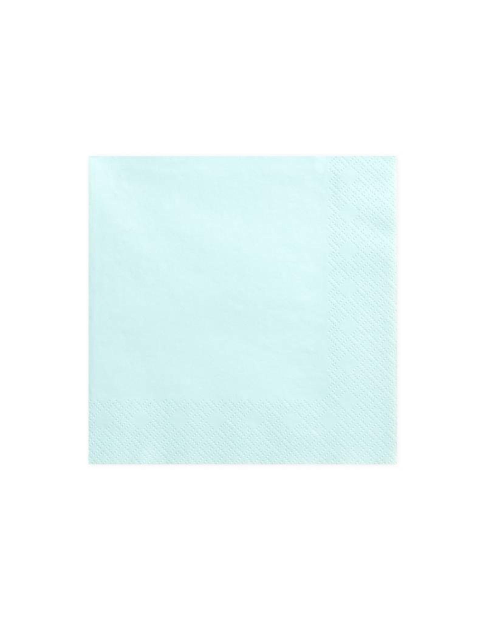 PartyDeco Servetten lichtblauw | 20 stuks
