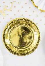 PartyDeco Papieren bordjes goud | 6 stuks