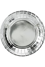 PartyDeco Papieren bordjes zilver | 6 stuks