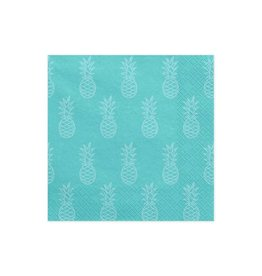 PartyDeco Servetten turquoise ananas | 20st