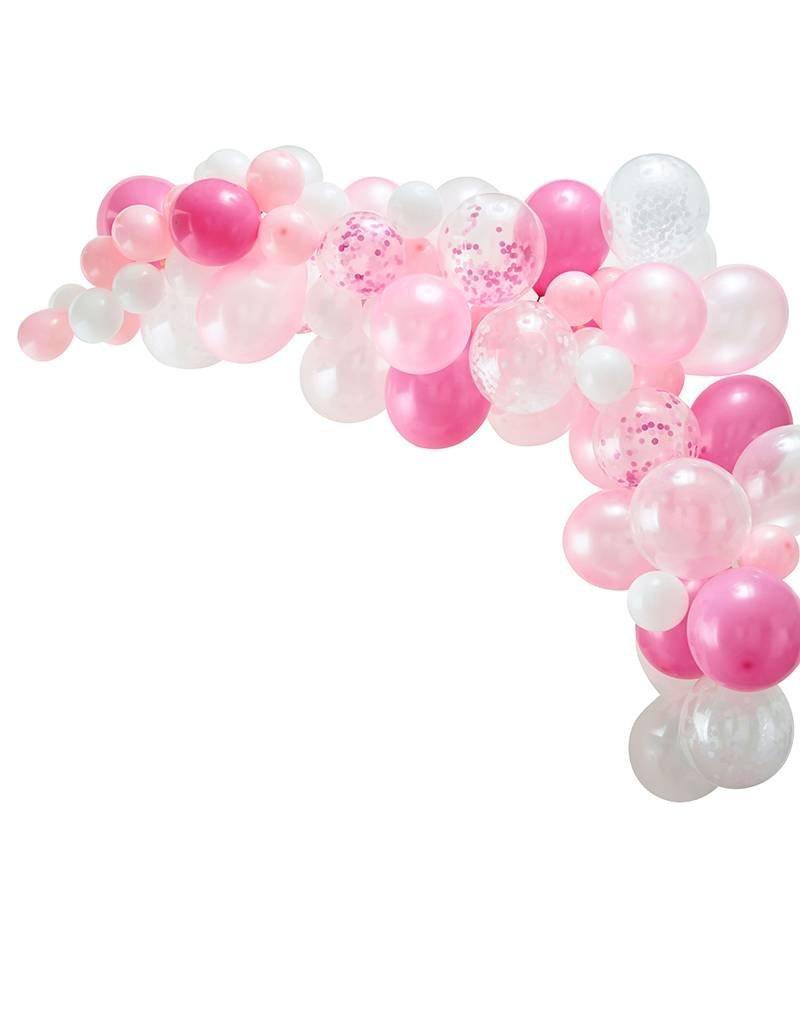 Ginger Ray Ballonnenboog roze DIY