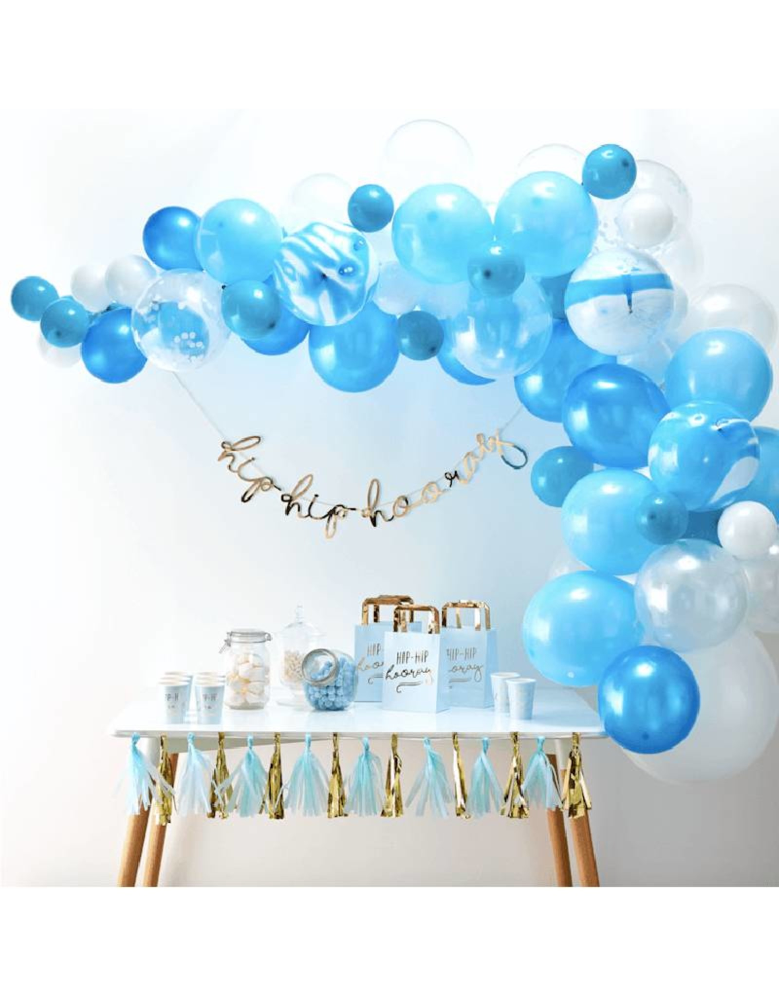 Ginger Ray Ballonnenboog blauw DIY