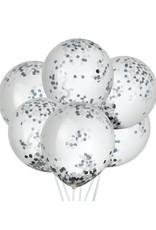 House of Gia Confetti ballonnen zwart & wit | 6 stuks