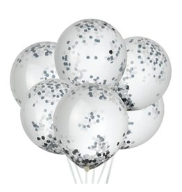House of Gia Confetti ballonnen zwart & wit | 6st