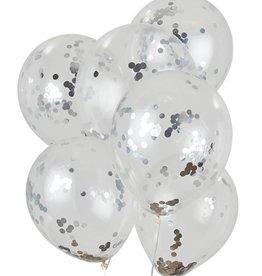 House of Gia Confetti ballonnen zilver | 6st