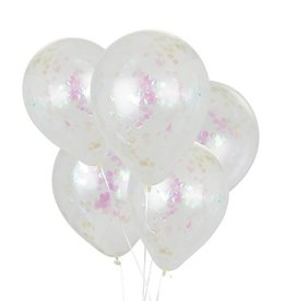 House of Gia Confetti ballonnen iriserend | 6st