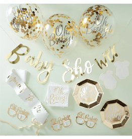 Ginger Ray Babyshower partybox goud | 12 pers