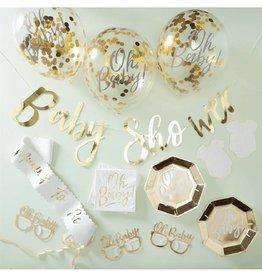 Ginger Ray Babyshower partybox goud | 12 personen
