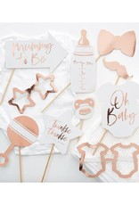 Ginger Ray Party props babyshower rosé goud | 10 stuks