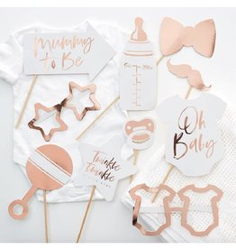 Ginger Ray Party props babyshower rosé goud | 10st